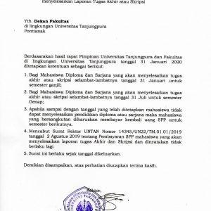 Pencabutan Surat Rektor Tentang Pembayaran SPP