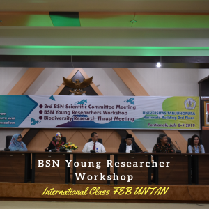 BSN Young Researcher Workshop was conducted at Universitas Tanjungpura between the cooperation of Faculty of Economics and Business, Universitas Tanjungpura. The worskshop is for young researcher at Unuversities that join the Borneo Studies Network. The workshop consist of two days seminar that contain the matery about research and academic waiting. 23 participanst said from Indonesia, Malaysia and Brunei stated that the workshop bring so many benefit to them.